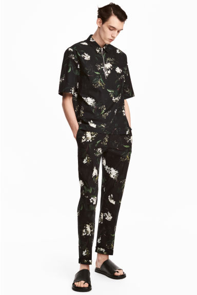 Patterned suit trousers Model