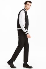 Elasticated wool suit trousers - Black - Men | H&M CN 1