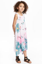 Printed jersey dress - White/Giraffe - Kids | H&M CN 1