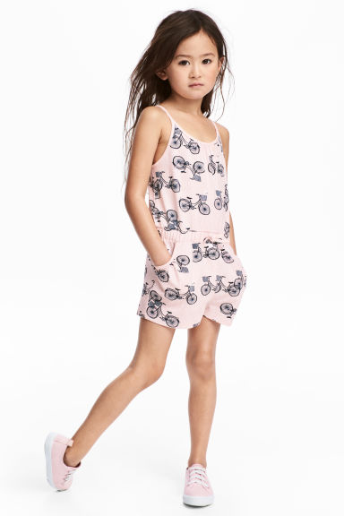 Jersey playsuit - Light pink/Bikes - Kids | H&M 1