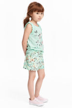 平紋短褲 - Mint green/Butterflies -  | H&M 1