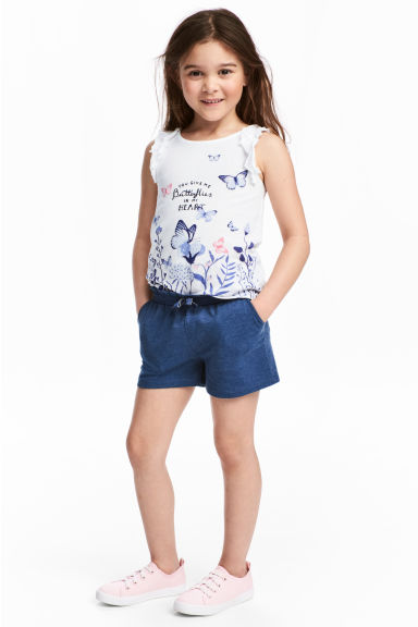 Jersey shorts - Dark blue -  | H&M
