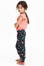 Patterned pull-on trousers - Dark blue - Kids | H&M 1