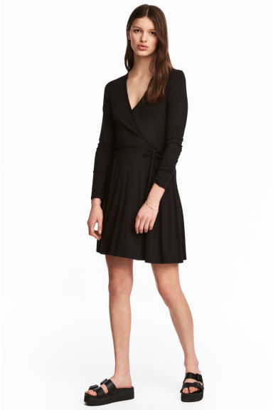 Wrap dress - Black - Ladies | H&M CA 1