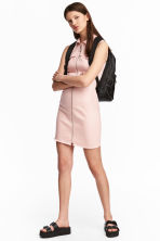 Fitted twill dress - Powder pink - Ladies | H&M CN 1