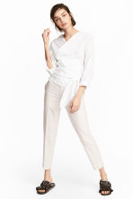 Suit trousers - Light beige - Ladies | H&M 1