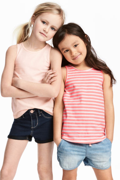 2-pack vest tops - Light pink -  | H&M 1