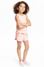 Sweatshirt shorts - Light pink - Kids | H&M CN 1