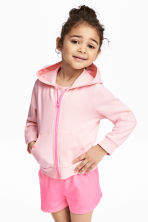 Hooded jacket - Light pink - Kids | H&M CN 1
