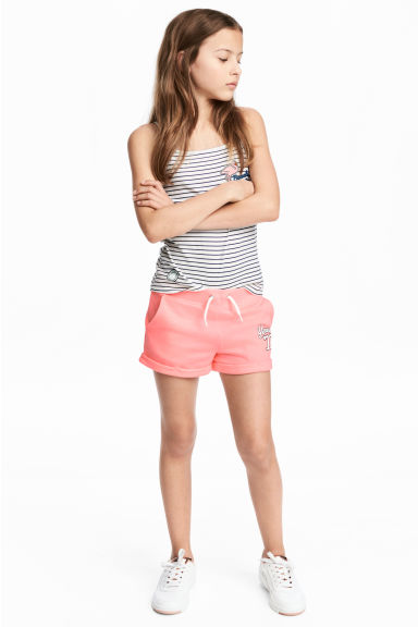 Short en molleton - Rose corail - ENFANT | H&M BE