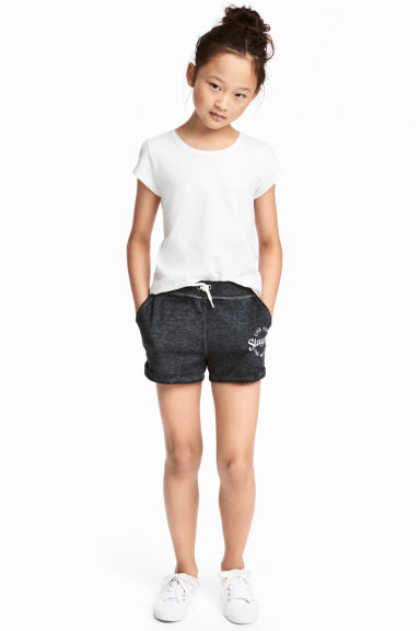 Sweatshirt shorts - Dark grey washed out - Kids | H&M 1