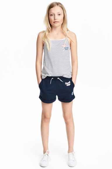 Sweatshirt shorts - Dark blue - Kids | H&M CA 1