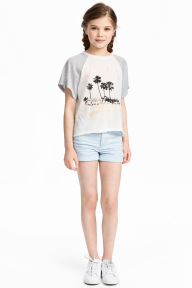 Twill shorts - Light blue - Kids | H&M CN 1