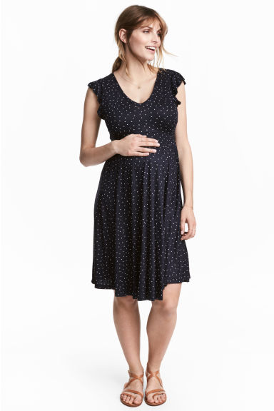 MAMA Jersey dress - Dark blue/Spotted -  | H&M 1