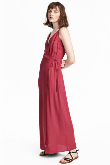 Maxi dress - Raspberry red - Ladies | H&M CN 1