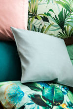Slub weave cushion cover - Mint green/Floral - Home All | H&M CN 1