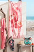 Hooded towel - Pink/Fish -  | H&M GB 1