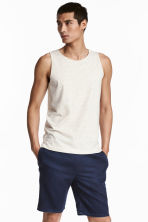Vest top - Natural white/Neps - Men | H&M CN 1