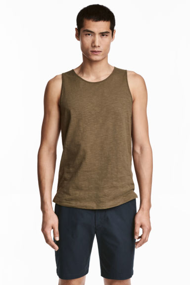 Vest top - Khaki - Men | H&M 1