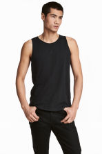 Vest top - Black - Men | H&M 1