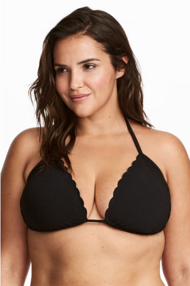 H&M+ Triangle bikini  top - Black - Ladies | H&M 1