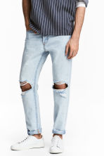 Straight Regular Jeans - Light blue washed out - Men | H&M 1