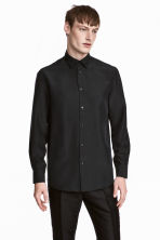 Silk shirt - Black - Men | H&M 1