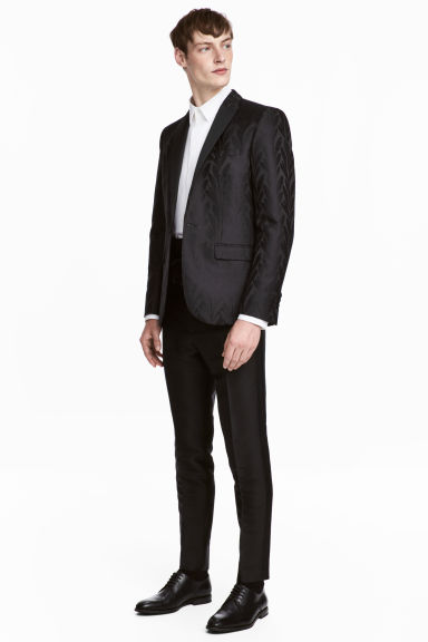 Lyocell-blend suit trousers - Black - Men | H&M CN
