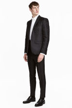 Lyocell-blend suit trousers - Black - Men | H&M CN 1