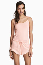 2-pack pyjama shorts - Apricot/Striped - Ladies | H&M 1