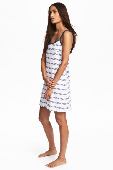 Jersey nightslip - White/Blue striped - Ladies | H&M 1