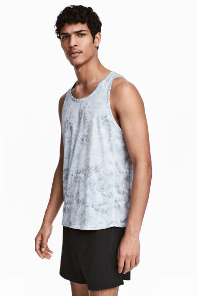 Sports vest top - Light grey/Patterned - Men | H&M 1