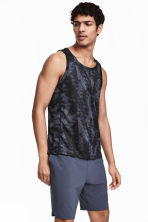 Sports vest top - Dark grey/Patterned - Men | H&M 1