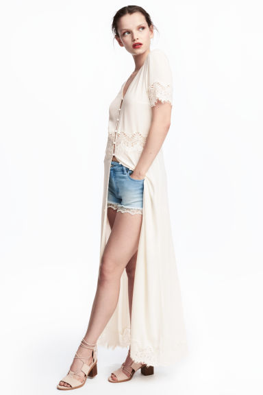 Long dress - White - Ladies | H&M CN 1