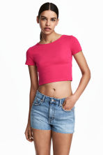 Cropped T-shirt - Cerise - Ladies | H&M 1