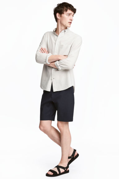 Slim fit Shorts - Dark blue - Men | H&M