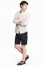 Slim fit Shorts - Dark blue - Men | H&M GB 1