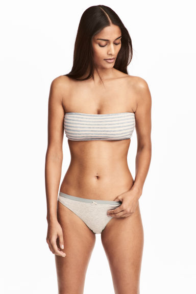 3-pack bikini briefs - Grey/Striped - Ladies | H&M CN 1