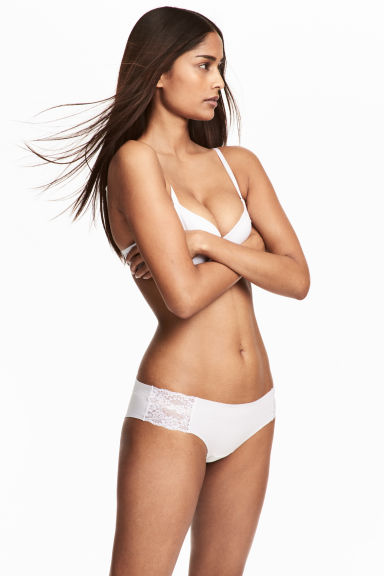 2-pack cotton hipster briefs - White - Ladies | H&M 1