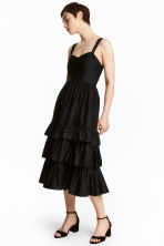 Cotton poplin dress - Black - Ladies | H&M GB 1