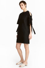 Textured dress - Black - Ladies | H&M CN 1