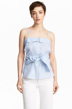 Cotton top - Blue/White/Striped - Ladies | H&M CA 1