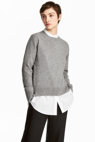 Cashmere jumper - Grey - Ladies | H&M 1