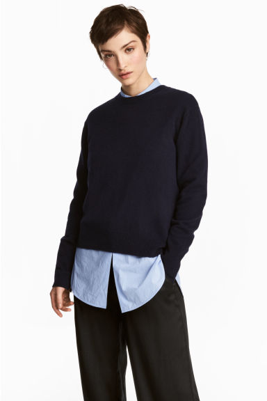 Pullover in cashmere - Blu scuro -  | H&M IT 1