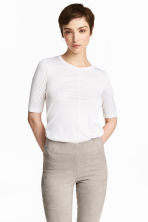 Silk top - White - Ladies | H&M 1