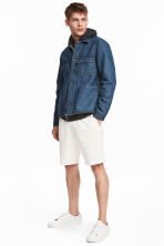 Linen-blend knee-length shorts - White - Men | H&M CN 1