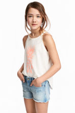 Printed jersey vest top - White - Kids | H&M CN 1