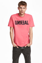 Printed T-shirt - Coral pink - Men | H&M 1
