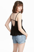 Strappy top with a flounce - Black - Ladies | H&M 1