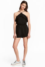 Flounced playsuit - Black - Ladies | H&M 1